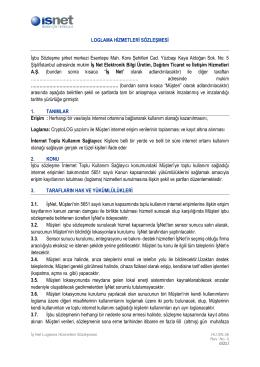 İşNet İşteLoglama Hizmeti Sözleşmesi