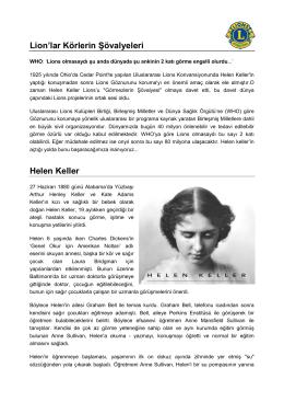 Helen Keller - Konferans Hakkında