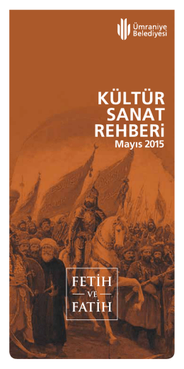 KÜLTÜR SANAT REHBERi - Ümraniye Belediyesi