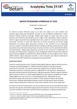 ArastirmaNotu187 - Betam - Bahçeşehir Üniversitesi