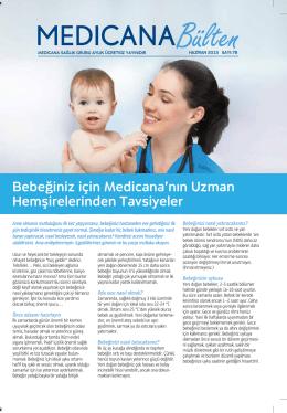 Bebeğiniz için Medicana`nın Uzman Hemşirelerinden Tavsiyeler