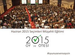 2015 Eğitim Sunumu