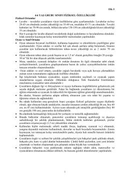 EK-3 4-6 YAŞ GRUBU SINIFI FİZİKSEL ÖZELLİKLERİ Fiziksel