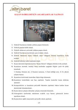 Kazan Daireleri için Asgari İşler Talimatı