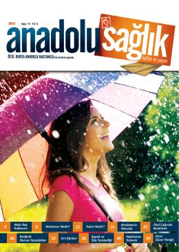 Anadolu Sağlık Dergisi Sayı 11