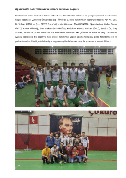 Fakültemiz Erkek Basketbol Takımının Başarısı