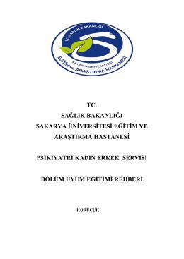 Psikiyatri Servisi - Sakarya Eğitim ve Araştırma Hastanesi