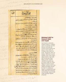 Mehmed Akif`in Osmanlı`daki sicil kaydı