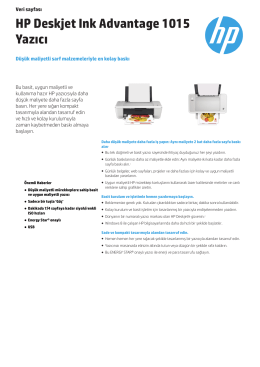 HP Deskjet Ink Advantage 1015 Yazıcı