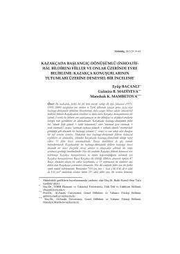 kazakçada başlangıç-dönüşümlü (inhoatif- hâl bildiren