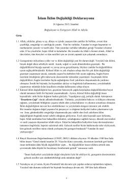İslam İklim Değişikliği Deklarasyonu