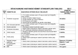 sivas numune hastanesi hizmet standartları tablosu ek 2