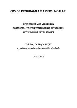 1.2-PgAdmin III Arayüzü İle