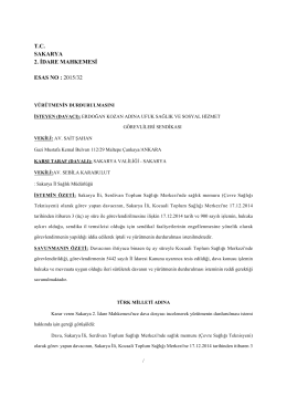 tc sakarya 2. idare mahkemesi esas no : 2015/32