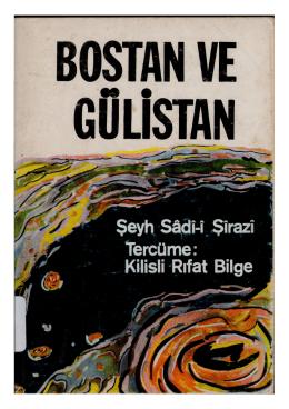 Şeyh Sadi – Bostan ve Gülistan