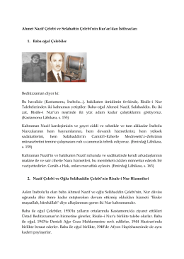 Ahmet Nazif Çelebi ve Selahattin Çelebi`nin Kur`an