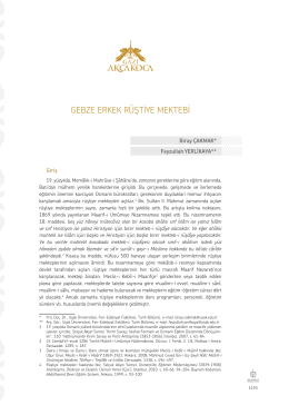 Yrd. Doç. Dr. Biray ÇAKMAK - Kocaeli Tarihi Sempozyumu