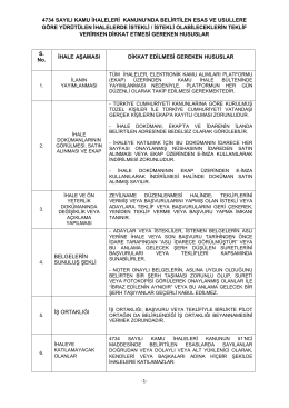 4734 sayılı kamu ihaleleri kanunu`nda belirtilen esas ve usullere