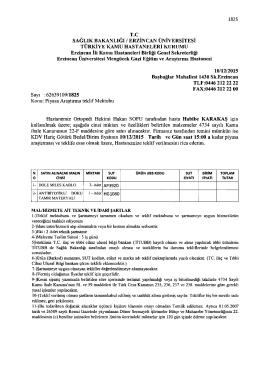 Sap :62639109/1825 Konu: Piyasa Ara$irma teklif Mektubu