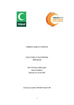 genç yeşilay mali destek programı başvuru rehberi