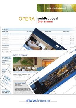 OPERA webProposal
