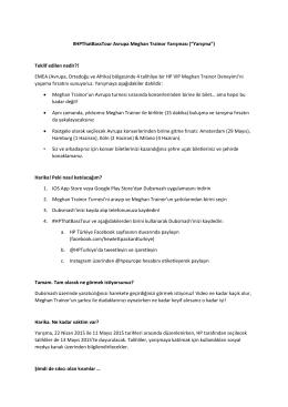 """#HPThatBassTour Avrupa Meghan Trainor Yarışması (""""Yarışma"""