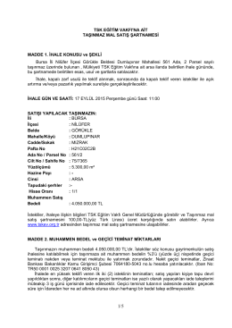 Şartname İçeriğini Görebilirsiniz - türk silahlı kuvvetleri eğitim vakfı