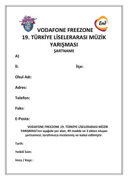 vodafone freezone 19. türkiye liselerarası müzik yarışması