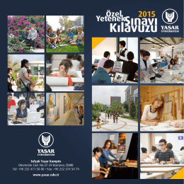 Selçuk Yaşar Kampüs Üniversite Cad. No:37-39