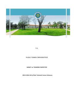 TC YILDIZ TEKNİK ÜNİVERSİTESİ SANAT ve TASARIM FAKÜLTESİ