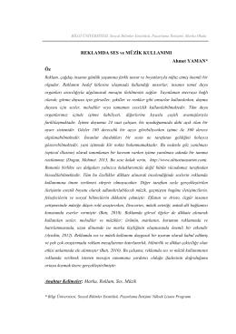 Reklamda Ses ve Müzik Kullanımı AhmetYaman_2015_Article
