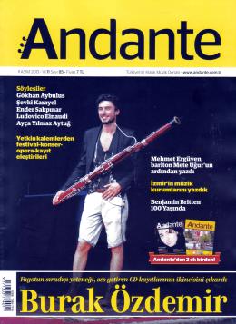Turkiye`nin Klasik Muzik Dergisi - www.andante.com.tr