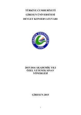 türkġye cumhurġyetġ gġresun ünġversġtesġ devlet konservatuvarı