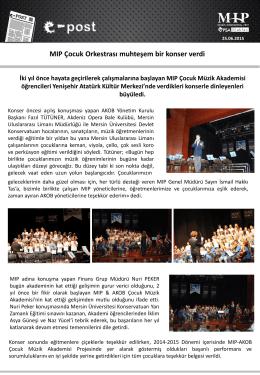 MIP Çocuk Orkestrası muhteşem bir konser verdi