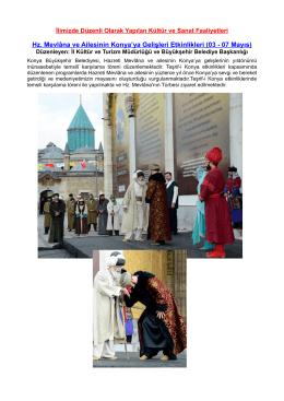 Konya İl Kültür ve Turizm Müdürlüğü Etkinlik Broşürü