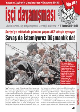 Savaş da İstemiyoruz Düşmanlık da! - Uluslararası İşçi Dayanışması