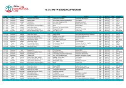 Spor Toto Basketbol Ligi 2015-16 Sezonu 16. ve 24.Hafta arası