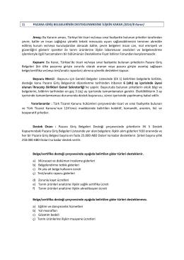 Çevre Maliyetlerinin Desteklenmesi Tebliği (97/5 sayılı Tebliğ)