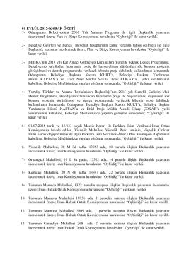 eylül 2015 meclis karar özeti