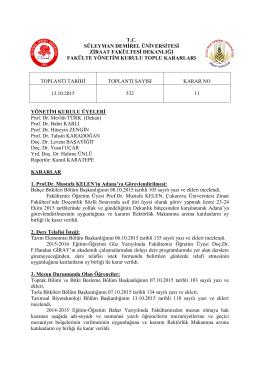13.10.2015 Tarihli 532 sayılı karar