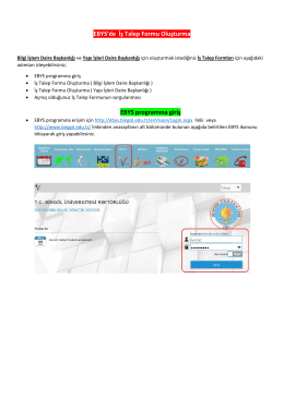 EBYS`de İş Talep Formu Oluşturma EBYS programına giriş