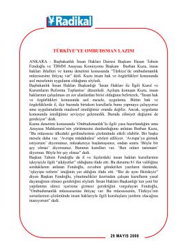 türkiyeye ombudsman lazım - Hasan Tahsin Fendoğlu Yeni