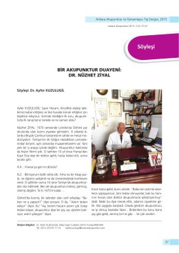 Söyleşi - Ankara Akupunktur Derneği