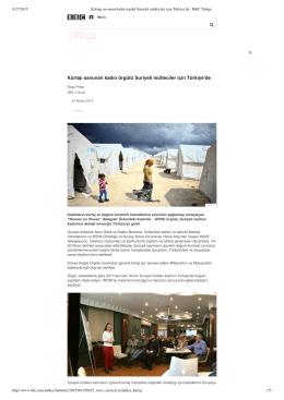 Kürtajı savunan kadın örgütü Suriyeli mülteciler