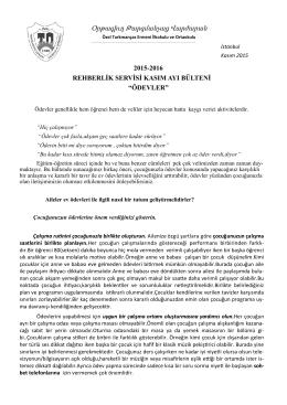 Ödevler - Özel Tarkmanças Ermeni İlköğretim Okulu