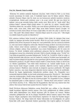 Prof. Dr. Mustafa Tekin`in tebliği Sözlerime bir anekdot anlatarak