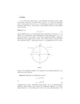 Grafikler x ve y reel sayılar olmak üzere (x, y) ikililerinin bir kümesi S