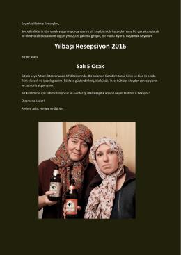 Yılbaşı Resepsiyon 2016