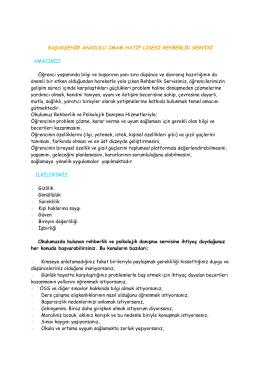 Rehberlik Servisi Tanıtımı - Başakşehir Kız Anadolu İmam Hatip Lisesi