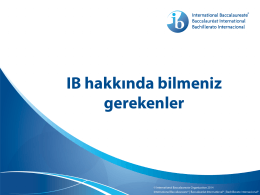 IB hakkında bilmeniz gerekenler